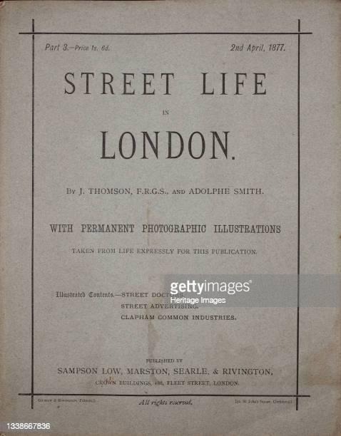 Street Life in London, circa 1875. A work made of woodburytypes. Artist John Thomson.