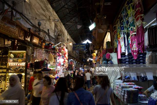 Street life in the centre of Damascus. The centre of Damascus was left largely untouched by the war with the old city with the Umayyad Mosque from...
