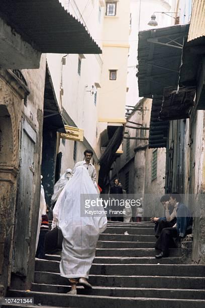 Street Life In The Kasbah In Alger In Algeria-Africa