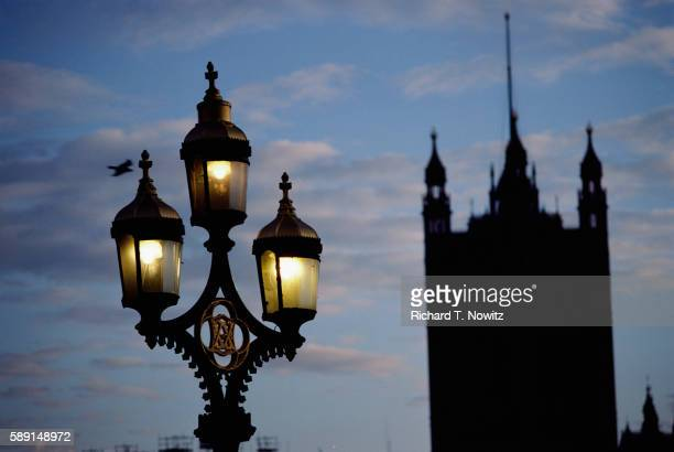 street light and victoria tower - victoria tower stock pictures, royalty-free photos & images