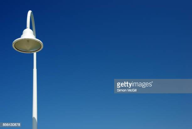 street light on the coffs harbour jetty, new south wales, australia - drooping stock photos and pictures
