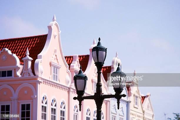 street light, oranjestad, aruba, caribbean - oranjestad stockfoto's en -beelden
