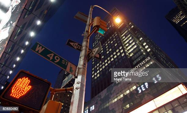 Street light shines near the headquarters of Lehman Brothers Holdings Inc. September 15, 2008 in New York City. Lehman Brothers filed a Chapter 11...
