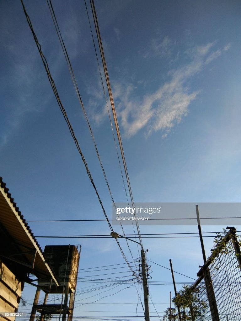 Street Lightpower Poles And Tangled Wiresthailand Stock Photo ...