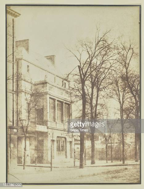 Street lined with bare trees; Hippolyte Bayard ; about 1840 - 1849; Salted paper print; 23.3 x 17.5 cm .