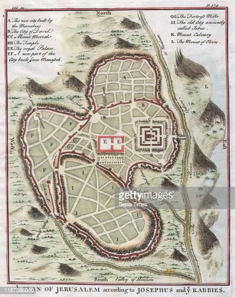 1730 Street Map or Plan of Jerusalem