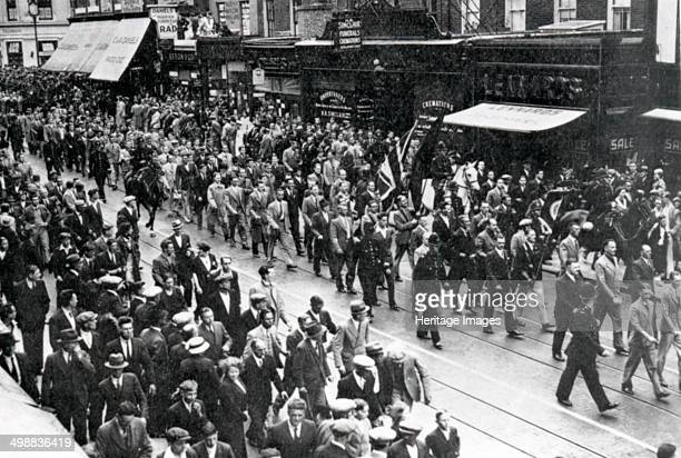 Street March through East London Sir Oswald Mosley's Union Movement 1936