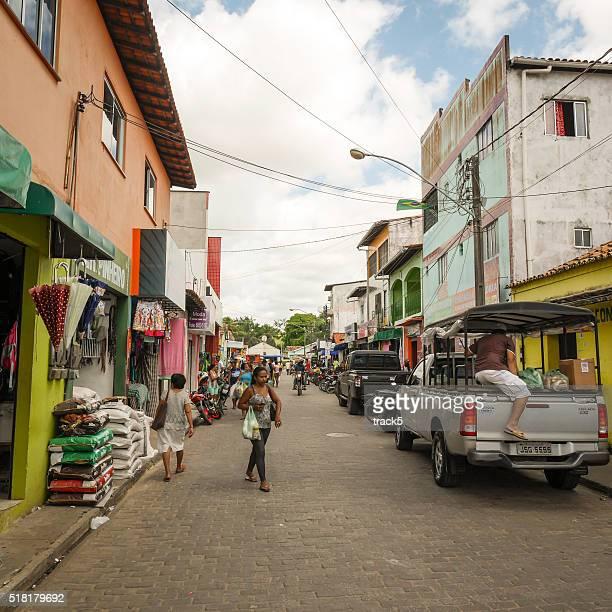 street market, barreirinhas, brazil - barreirinhas stock pictures, royalty-free photos & images