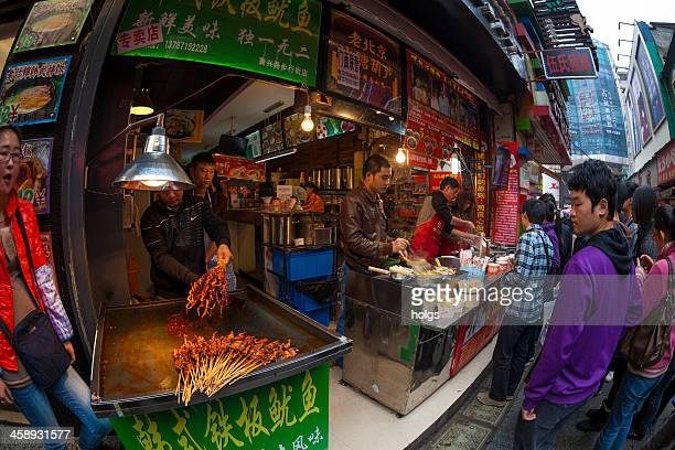 street market, changsa, china - hunan province stock pictures, royalty-free photos & images
