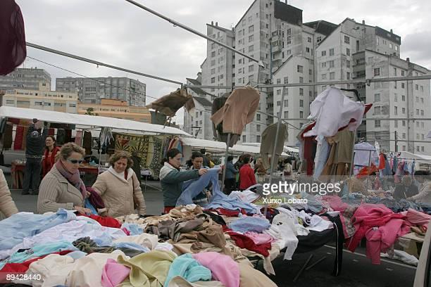 Street market in A Coruna