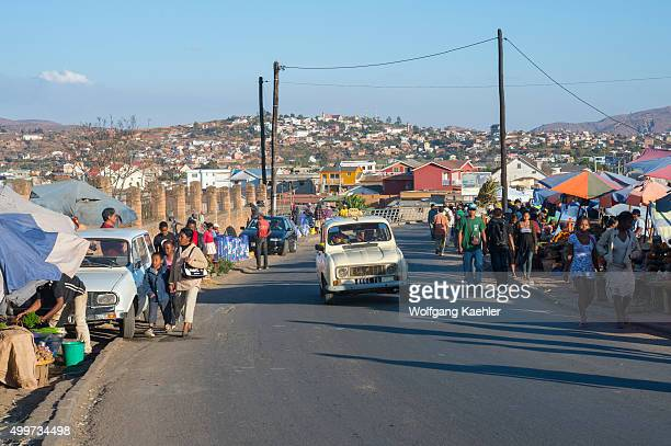Street market in Antananarivo the capital city of Madagascar