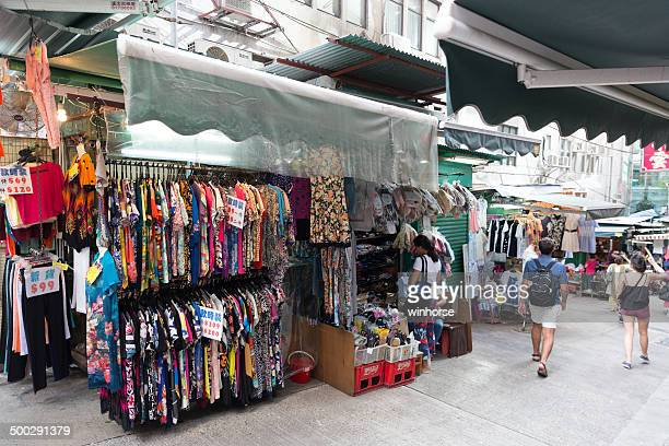 Street Market in Central District, Hong Kong