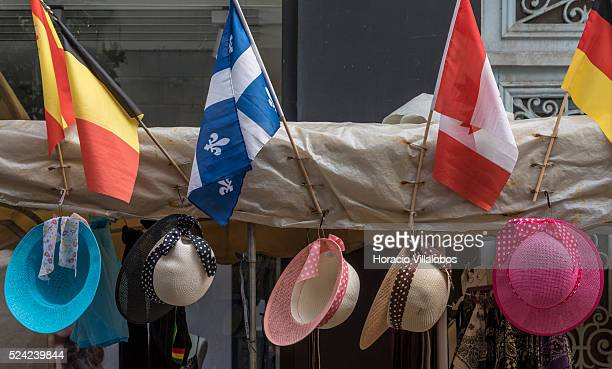 Street market in downtown Dieppe France 16 August 2015 Dieppe is a port on the English Channel at the mouth of the Arques river famous for its...