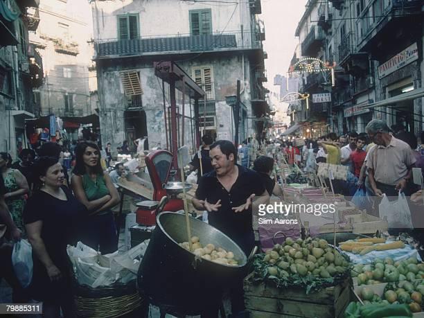A street market in Palermo Sicily August 1975