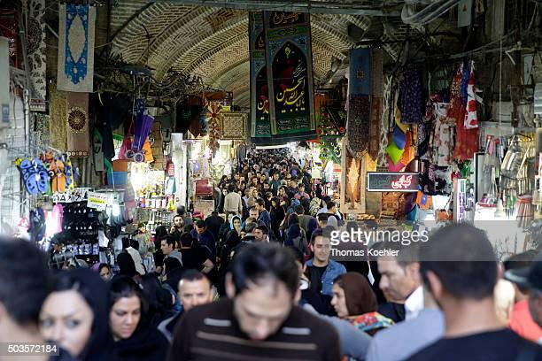 Street market near the central market on October 18, 2015 in Tehran, Iran.