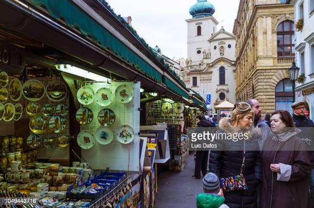 street market, prague. - dafos stock photos and pictures