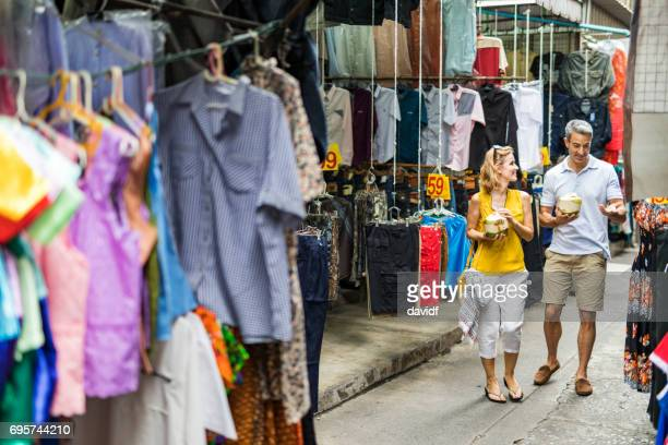 Street Market Shopping in South East Asia