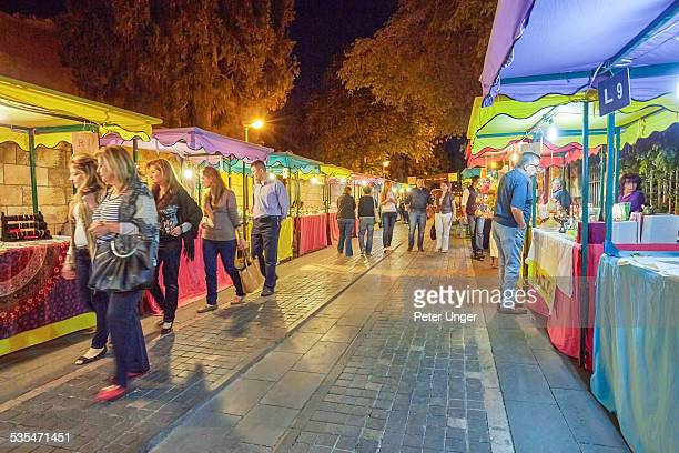 Street markets at night in Amman City