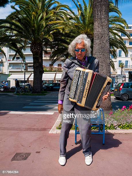 Street musician in Cannes, France