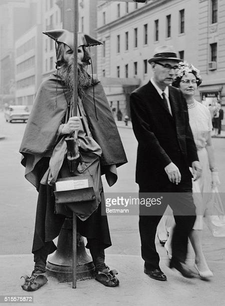 Street musician Moondog was well known for wearing his own version of Viking style clothing and performing along 54th street in Manhattan.