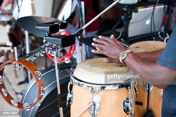 street musician - tropical music stock photos and pictures
