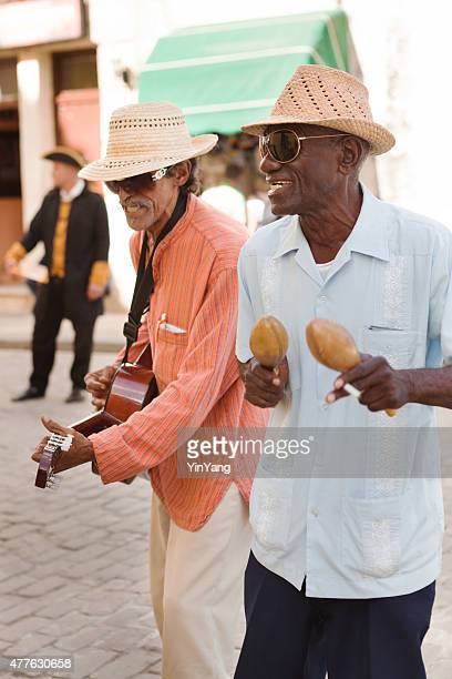 Street Musician Playing Cuban Music in Havana Cuba