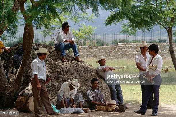 Street musicians Cuilapan Oaxaca Mexico