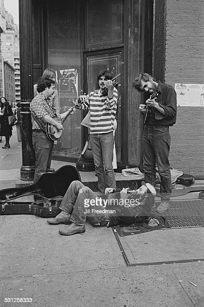 Street musicians in New York City circa 1976
