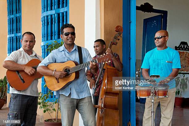 Street musicians.