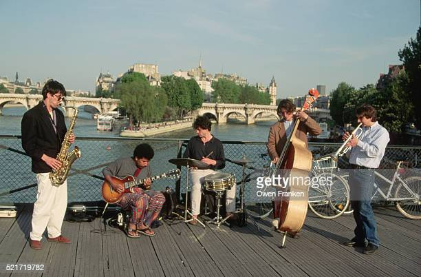 Street Musicians Playing near the Water