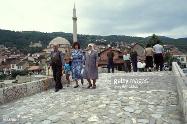 Street name in three languages in Prizren