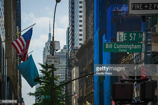 NYC street named after legendary photographer Bill Cunningham Corner of 5th Avenue and 57th