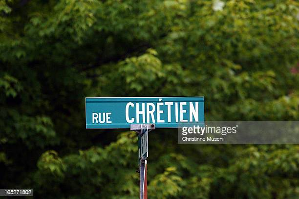 Street named Chretien, just off the street Biermans where Jean Chretien was born on in Shawinigan, Quebec. .
