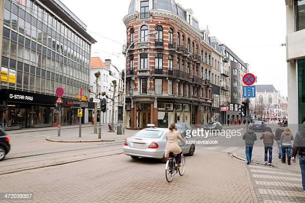 street national straat - antwerpen stad stockfoto's en -beelden