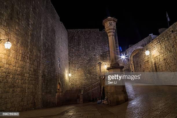 Street night inside the Dubrovnik's old city