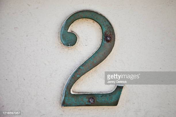 street number - number 2 stock pictures, royalty-free photos & images