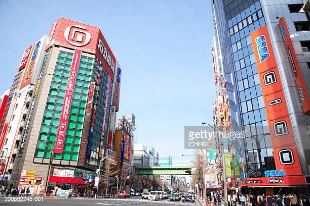 street of akihabara - akihabara stock pictures, royalty-free photos & images