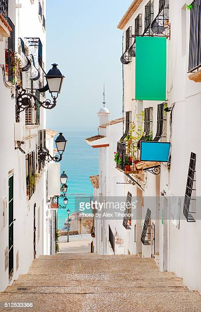 Street of Altea town. Spain