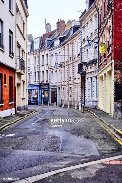 Street of Arras on wintry day