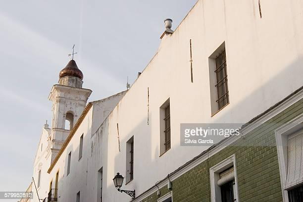 street of ayamonte, huelva - turista stock-fotos und bilder