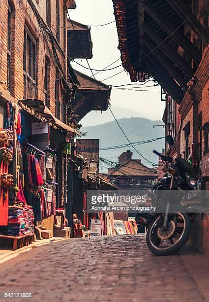 Street of Bhaktapur Nepal