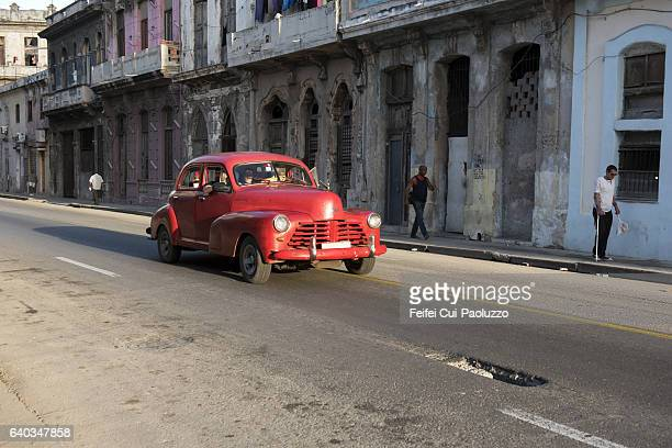 Street of Centro Havana in Cuba