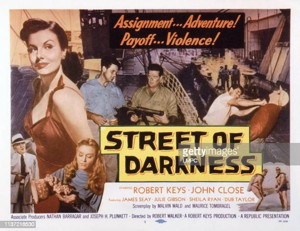 Street Of Darkness US lobbycard Sheila Ryan Julie Gibson 1958