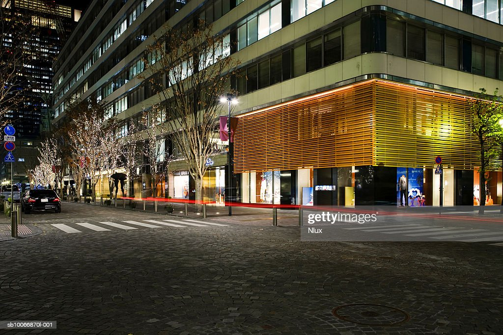 Street of financial district : Stock Photo