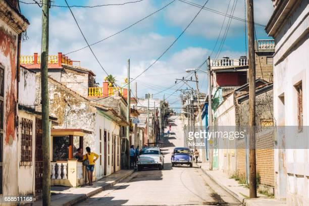 Straße von Gibara Stadt in Kuba