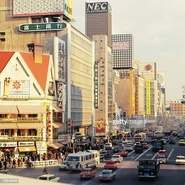 street of ginza in showa - showa period stock pictures, royalty-free photos & images