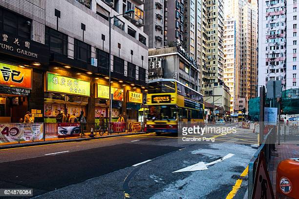 street of hong kong - caroline pang stock pictures, royalty-free photos & images