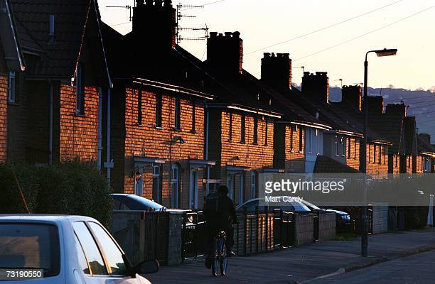 A street of houses on the Knowle West housing estate are seen at sunset February 2 Bristol England Bristol City Council is one of 40 local...