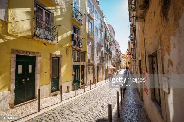 street of lisbon. - lissabon stock-fotos und bilder