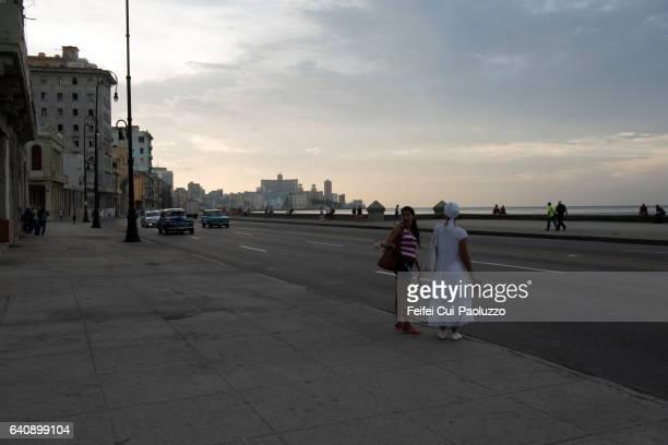 Street of Malecon Havana in Cuba